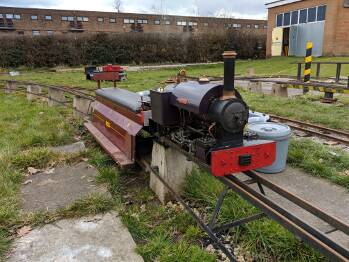 "Dave's 5"" quarry engine ""Millclose"" ready to run."